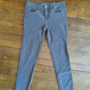 American Eagle Taupe Stretch Jeggings Size 4 G